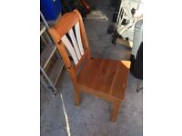 4 Cream and Wood Dining Chairs