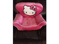 Hello kitty chair builds bear