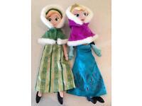 "Disney Frozen Elsa & Anna Plush Dolls 20"""