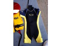 Toddler wetsuit and lifejacket