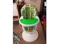 Cosatto 3Sixti High Chair Green Hapi Apples