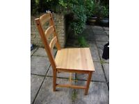 Chair x 3, solid pine, good condition, can be easily dismantled for transportation