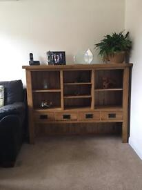 Rustic oak dresser top or could use as stand alone display unit (oak furniture land)