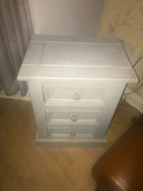 Solid Wood upcycled Bedside cabinet, Grey.