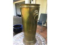 Vintage brass umbrella /walking stick stand