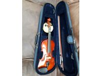 Half Size Violin, Case and Bow from Stringers of Edinburgh - very good condition