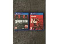 ps4 games wolfenstein the new order and the old blood good working order swap