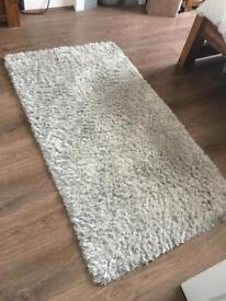 Dunelm large silver grey rug