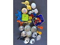 Small kids play kitchen plus accessories