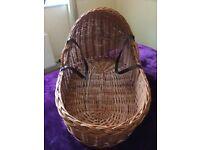 Wicker crib/Moses basket