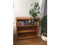Baku light natural solid mango hardwood bookcase.