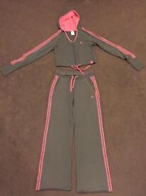 Adidas cropped jacket tracksuit size 8 ex con