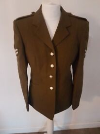 Genuine Womens Uniform No2 Dress Army jacket complete with Corporal badges.