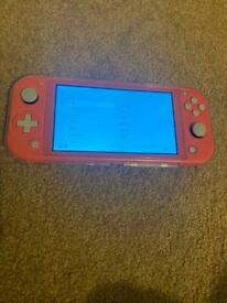Nintendo switch lite console with lol game