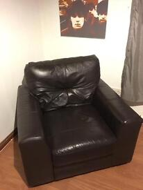 2 full leather single seaters