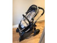 I candy peach 3 truffle colour pushchair and carrycot included