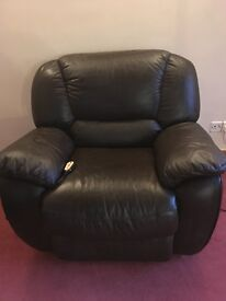 Leather Recliner dark brown