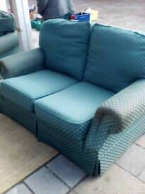 2 seater and chair for sale