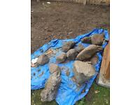 Free large stones - would suit making a rockery