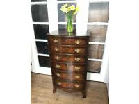 Antique/vintage chest free delivery Ldn Tallboy with key