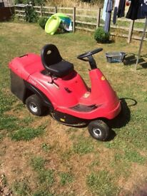 Mountfield 1228H ride on mower,used condition. Also green mower included for parts.
