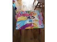 Disney princess kids table & chairs