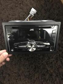 Jvc double din stereo with front usb, aux and MP3