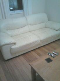 2x3 seater leather sofas