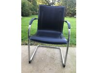 Luxury leather chrome cantilever visitors / meeting room chair (choice of 5)