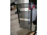 Chromium Plated Central Heating Radiator.Bathroom Towel Rail Tubular Type 1200mm by 600mm