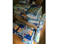 Disposable pull up/training pants ( total 744 pull ups), & also 534 nappies