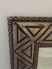 Funky Golden African Mirror