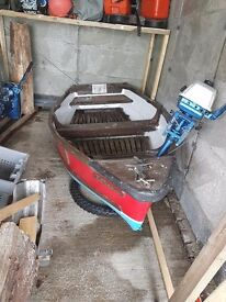 12ft boat 3.5hp suzuki outboard and trailer