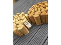 Log edging. 3 rolls