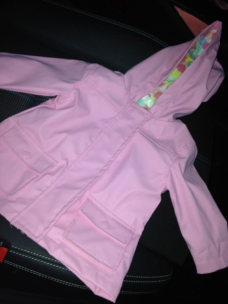 Pink rain coat 3 - 6 months