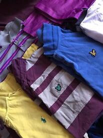 Job lot of branded polo shirts