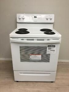 Brand new scratch and dent Frigidaire white Stove $400