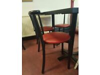 Cafe chairs, tables and coca cola fridge for sale