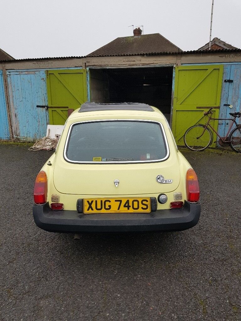 MGB GT 1978 yellow needs attention good project car all original no ...