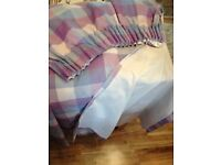 Two Pairs of Laura Ashley Bedroom Curtains (inc matching Duvet Cover and Bed-set)