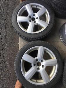 235/45/17 Bridgestone blizzak 7-8/32.  + mags 17pouces  5x112.   VW/AUDI