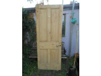 Solid pine internal door with fittings