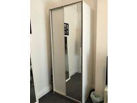 IKEA WHITE MIRROR SLIDING DOORS TRYSIL WARDROBE RRP £140