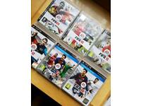 PS3 GAMES X 9 FOOTBALL/WRESTLING LOOK !!!