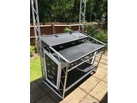 LiteConsole XPRS DJ booth with overhead truss kit