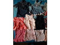 bundle of baby girls clothes 3-6