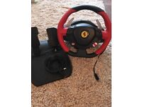 Xbox one Ferrari driving steering wheel and pedals