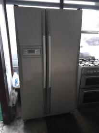 Daewoo silver American fridge freezer