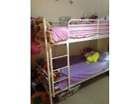 White ikea bunk beds full size singles