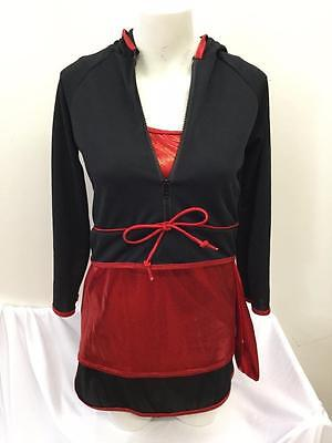 NEW Dance Costume Adult M & XL Hip Hop Red 3 pc Urban Funk Jazz Trio Competition